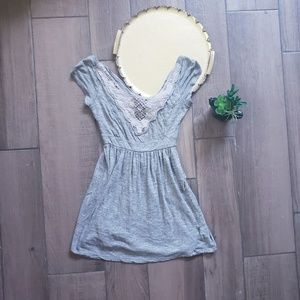 Anthropologie Pins and Needles lace Jersey dress